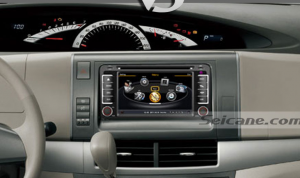 DVD player after installation,gps nav syetem of 2001-2011 Toyota Corolla Hilux