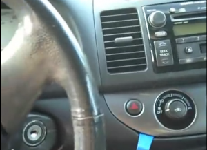 pry the below dashboard with a lever