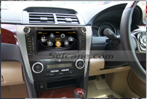 the unit after installation,radio gps of 2012 2013 Toyota Camry