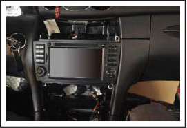 Install the unit after the wiring harness has been connected