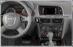 head unit after installation,aftermarket radio gps navigation system of 2008-2013 Audi Q5