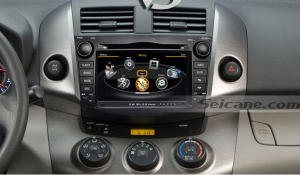 head unit after installation,aftermarket sat nav system of 2006-2012 Toyota Rav4