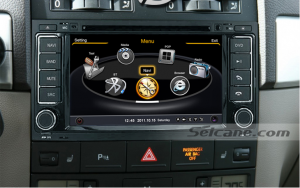 head unit after installation,dvd bluetooth with gps nav system of 2003-2010 VW Touareg
