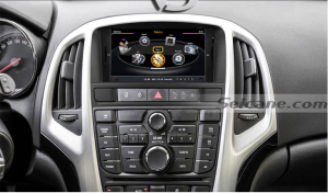 head unit after installation,gps dvd with sat nav system touch screen of 2011 2012 2013 Opel Astra