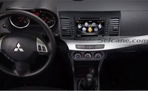 new unit after installation,GPS dvd player with touch screen rearview camera of 2010 2011 Mitsubishi Lancer