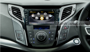 New unit after installation,gps radio dvd player autoradio of 2012 Hyundai I40