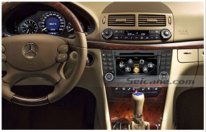 new unit after upgrade,car stereo autoradio with gps sat nav touch screen of 2005 2006 Mercedes Benz CLK W209
