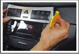 Take the heated seat out and control panel assembly