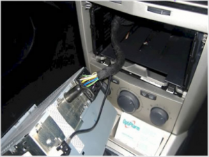 Fasten cock on connector,remove car stereo and antenna