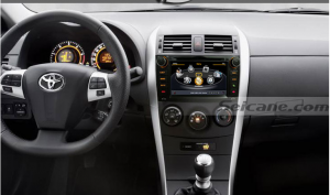 head unit after installation,aftermarket audio navigation system of 2008 2009 2010 2011 Toyota Auris