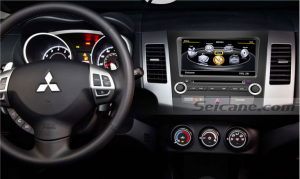 Car stereo audio after installation,dvd GPS navigation system of 2006-2011 Mitsubishi outlander