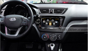 Car stereo after installation,gps nav system with bluetooth music of 2011 2012 KIA K2