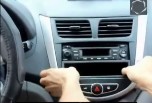 Gently remove the dashboard and disconnect the cable