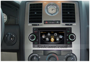 New unit after installation,audio stereo navigation system of 2005 2006 2007 Chrysler 300C