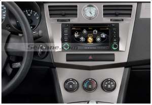 Head unit after installation,aftermarket DVD GPS navigation system of DODGE RAM 1500 2500 3500