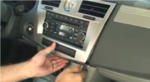 Pry and release trim panel with the help of  a lever