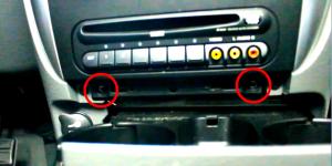 2002 2003 2004 Chrysler Dakota car stereo installation step 2