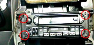 2002 2003 2004 Chrysler Dakota car stereo installation step 4