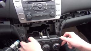 2008-2012 Mazda 6 Ultra Radio installation step 7