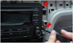 2012-2014 VW MAGOTAN Car stereo installaton step 2