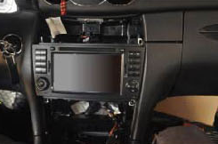 2000-2005 Mercedes Benz C Class W203 car stereo installation step 17