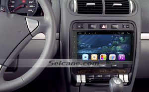 2003-2010 Porsche Cayenne car stereo after installation