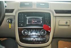 2005-2012 Mercedes-Benz GL CLASS X164 radio  installation step 1