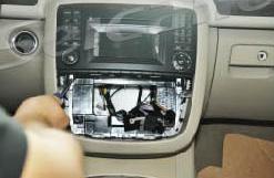 2005-2012 Mercedes-Benz GL CLASS X164 radio  installation step 3