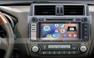 2014 Toyota Prado car stereo after installation