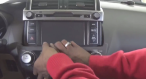 2014 Toyota Prado car stereo installation  step 1