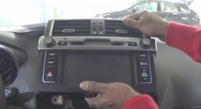 2014 Toyota Prado car stereo installation  step 4