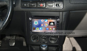 1998-2009 VW Volkswagen T5 head unit after installation