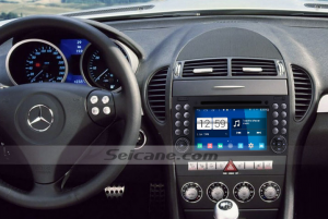2000-2008 Mercedes Benz SLK class radio after installation