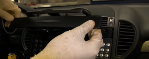 2000-2008 Mercedes Benz SLK class radio installation step 17