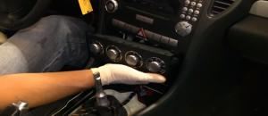2000-2008 Mercedes Benz SLK class radio installation step 9