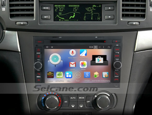 2002-2011 Pontiac G3 car stereo after installation