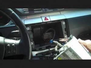 2005-2012 VW Volkswagen PASSAT head unit installation step 4