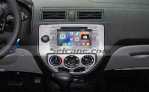 2006-2011 Ford Fusion car stereo after installation