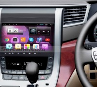 2007-2015 Toyota ALPHARD car stereo after installation