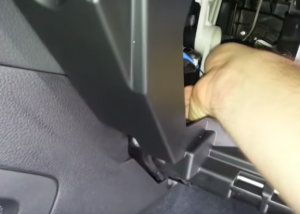 2-1.Unplug the plug which connect the trim panel to the dash