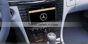 2002-2008 Mercedes Benz E Class W211 car stereo after installation