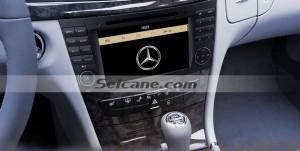 2002-2008 Mercedes Benz E Class W211 car stereo after installation