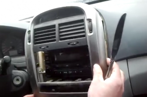 2015 KIA Sorento car stereo installation step 1
