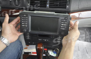 4.Take out original DVD player of the car.