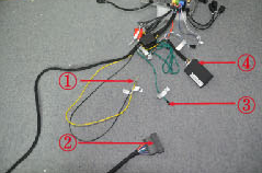 5. Connect the cables in the package