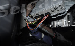 10. Remove the amplifier in the car.
