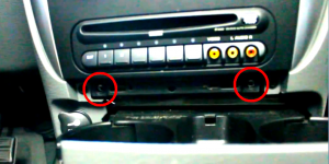 2.Remove 2 screws behind the trim piece.