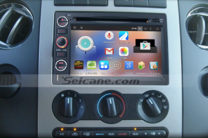 2004-2014 Ford F150 F250 F350 head unit after installation