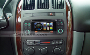 2005 2006 Dodge Viper radio after installation