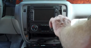 4-1. Remove two screws holding another panel in the dashboard. After that, remove the panel with your hands.